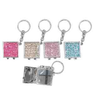 Rhinestone mirror key holder for Mirror key holder