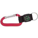 Aluminum carabiner with compass