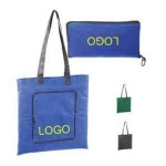 Foldable non-woven zippered tote bag
