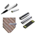 Executive Stainless Steel Tie Clip with USB Flash Drive