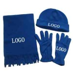 Beanie Gloves and Scarf Set